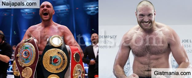 World Heavyweight Boxing Champion, Tyson Fury Tests Positive For Cocaine