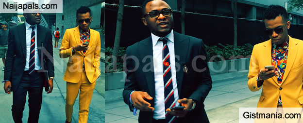 Ouch! Ubi Franklin Shades Iyanya After Attending The BET Awards With Tekno (Photo)