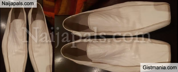 Hilarious Shoe A Guy's Aunty Sent Him For Xmas From United Kingdom (Photo)