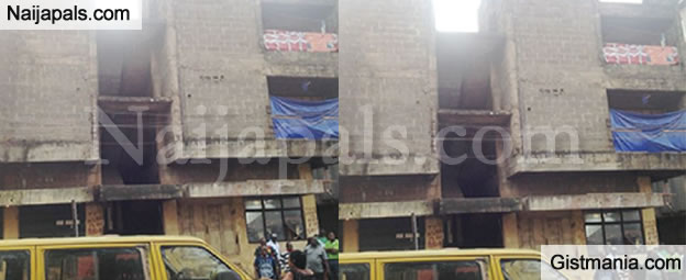 SAD! Man Who Was Sleeping Mysteriously Rolls Off the Corridor Of A Four-storey Building And Dies