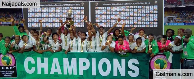 Nigerian Female Football Team, Super Falcons Win African Championship Title AWCON 2016