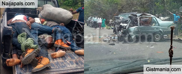 TRAGEDY! Passengers Dead Including NYSC Members In Fatal Accident Along Warri/Sapele Road -Photos
