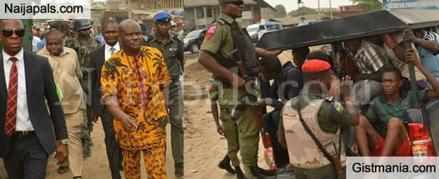 Gov. Wike Personally Leads Arrest Of 15 Mechanics In Rivers State (Photos)