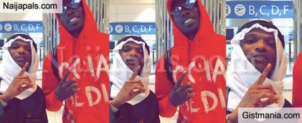 Photo: Singer, Wizkid And Footballer, Paul Pogba Spotted Together At The Airport