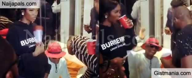 VIDEO: Wizkid Takes His Girlfriend, Tiwa Savage To Patoranking's Album Listening Party