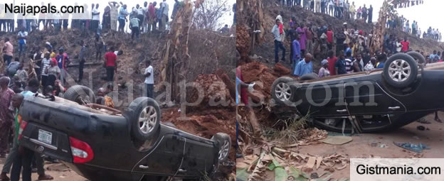 SHOCKING: Pregnant Woman Killed As Car Somersaults In Lagos