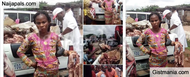 OMG! Women Caught Selling Donkey Meat As Cow Meat To Unsuspecting Buyers In Edo (PHOTOS)