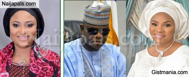 Controversy As Governor Yahaya Bello Of Kogi State Parades Two Ladies As First Lady Of The State