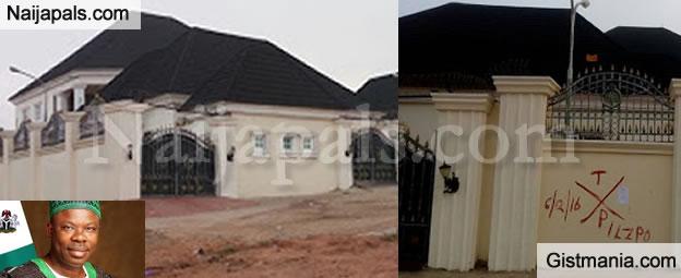 Mansion Belonging To Senator Solomon Adeola Marked For Demolition By Gov. Amosun - Photos