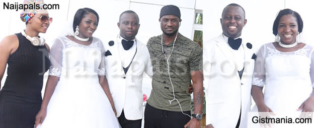 Yemi Alade, Psquare and Phyno Crash An Excited Couple's Reception Photo Shot
