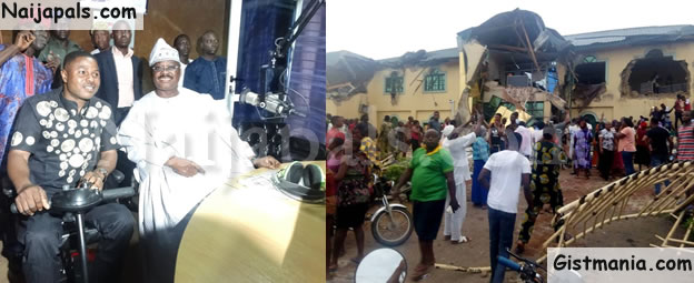 BREAKING! Oyo State Govt Demolish Yinka Ayefele's Radio Station Building In Ibadan (Photos & Video)