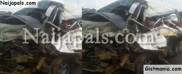 PHOTOS: Driver, 11 Passengers Die In Fatal Accident Involving Young Shall Grow Bus In Benin