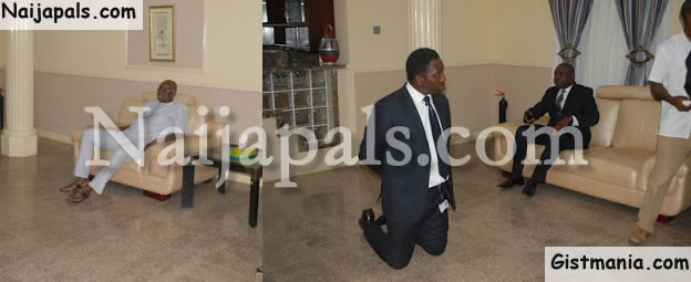 Zenith Bank Manager Who Knelt Down To Beg Is Fayose's Boy?..(Read Interesting Revelation)