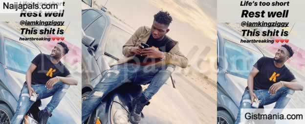 Heartbreaking: Fast-Rising Nigerian Rapper, Ziggy Dies After Falling From A 4-Storey Building